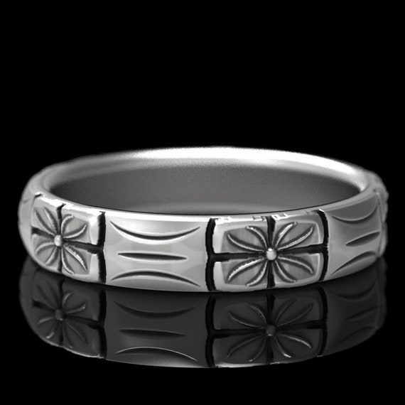 RESERVED FOR Evelyna Sterling Stackable Ring Flower Design Made in Your Size Cr-5024Wide