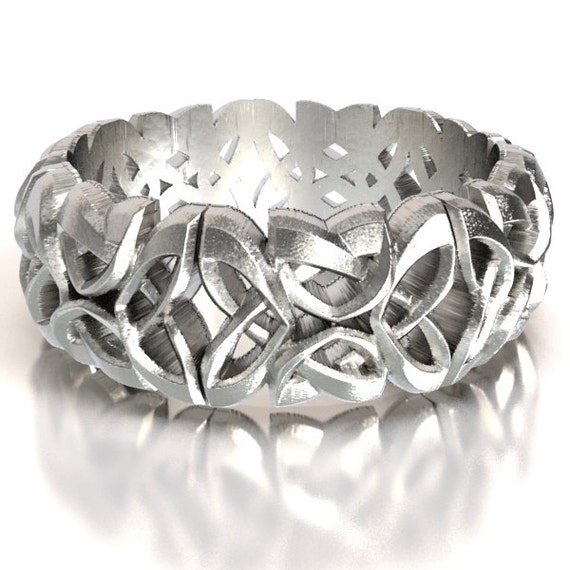 Celtic Cut-Through Dara Knot Design in Sterling Silver, Made in Your Size CR-1079