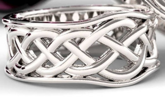 RESERVED FOR Kevin Celtic Knot Wedding Band, 925 Sterling Silver Wedding Ring, Celtic Knotwork, Made in Your Size 1109
