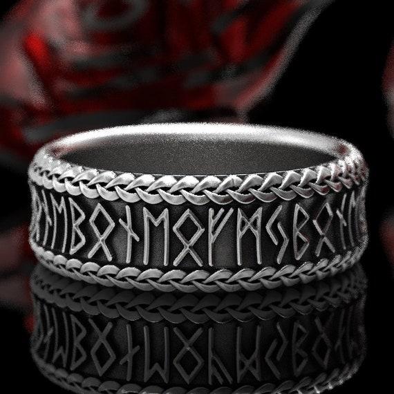 RESERVED FOR whatup607 Viking Rune Ring, Silver Rune Wedding Band, Magical Jewelry, Rune Jewlery, Norse Ring, Viking Rune Sterling Ring 5102