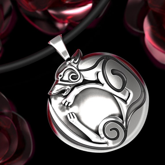 Celtic Wolf Pendant Made in Silver, Sterling Silver Celtic Knot Necklace, Wolf Pendant Necklace, Viking Wolf Pendant, Norse Wolf Pendant