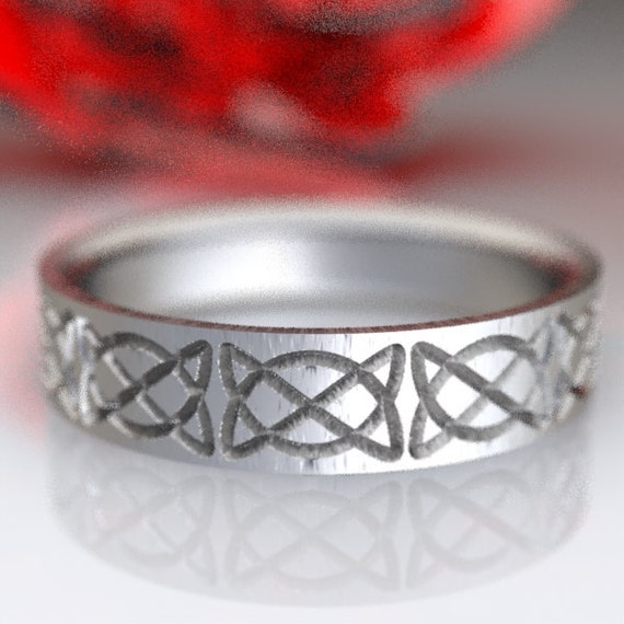 Celtic Ring With Dara Knot Ring Woven Design in Sterling Silver, Made in Your Size CR-747