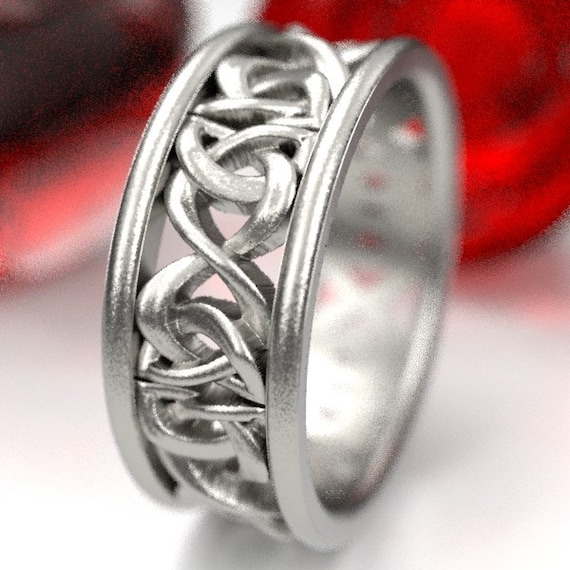 Sterling Silver Woven Wedding Band, Celtic Knot Wedding Band for Her, Irish Wedding Ring,  Celtic Eternity Ring, Custom Size CR-5008