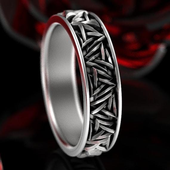 Valknut Knot Ring, Viking Rune Ring, Odin Rune Jewelry, Norse Ring, Sterling Silver Rune Ring, Valknut Female Companion Knot Ring 1375