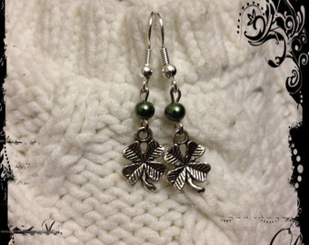 A Little Clover- Green beading with a splash of metal clover charms