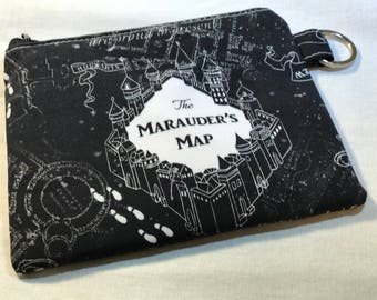 Marauders Map Coin Purse, Harry Potter Coin Pouch,  HP Coin Purse, Harry Potter Coin Purse, Fandom Coin Purse, Harry Potter Pouch