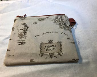 Middle Earth Coin Purse, Map of Middle Earth Coin Pouch,  Coin Purse, Lord of the Rings Coin Purse, Fandom Coin Purse, Ready to Ship