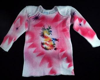 "Newborn Airbrushed Dragon T-shirt-""SALE"""