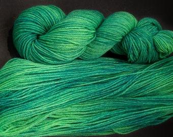 Aran weight Soft Wool Yarn 3ply 114yds Superfine Shetland Handspun Yarn