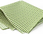 Gingham Light Green Pocket Square