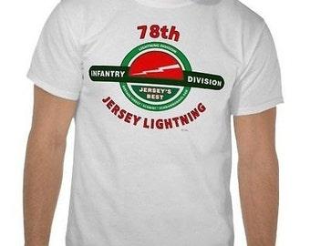 "78TH INFANTRY DIVISION /""JERSEY LIGHTNING/""  WHITE SHIRT"