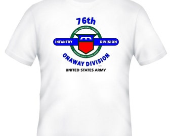 84TH INFANTRY DIVSION /& WORLD WAR II CAMPAIGNS VETERAN  2-SIDED SHIRT