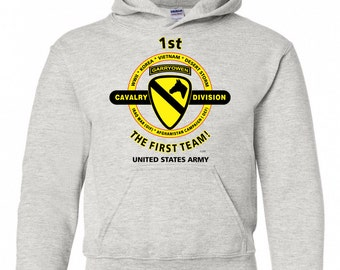 1st Cavalry Division The First Team Embroidered | Etsy