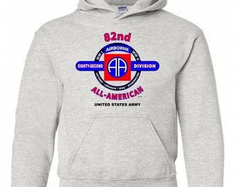 82ND AIRBORNE DIVISION CAMPAIGNS  2-SIDED LEFT CHEST//BACK EMBLEM ZIPPER HOODIE