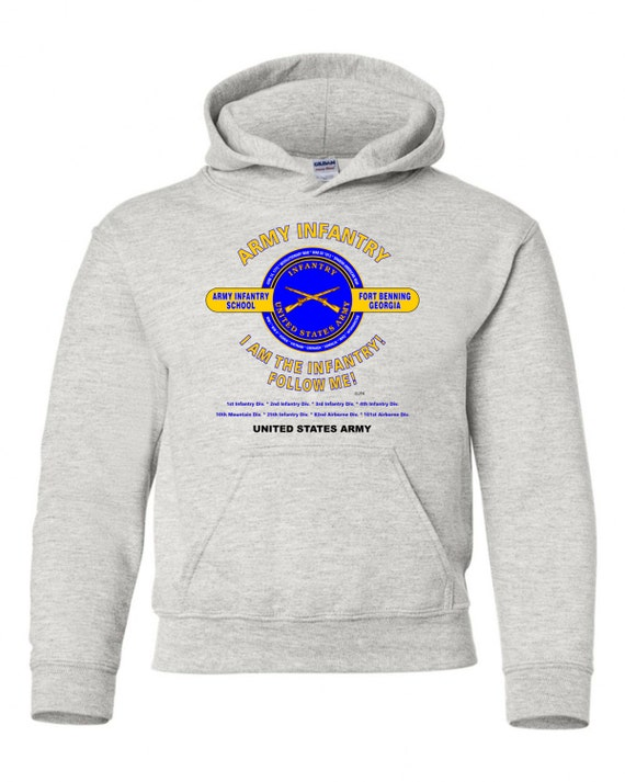 ARMY AIRBORNE FORT BENNING-GEORGIA UNIT /& OPERATION HOODIE SWEATSHIRT