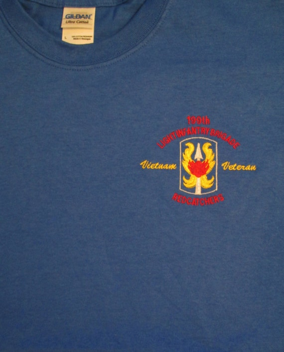 """199TH INFANTRY BRIGADE /""""THE REDCATCHERS/"""" EMBROIDERED LEFT CHEST SHIRT"""