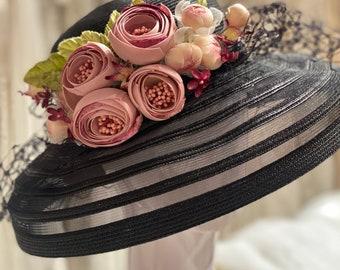 Kentucky Derby Hat Fascinator- HOK-127 HEADCANDI