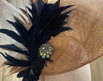 Kentucky Derby Hat Fascinator- Hok-237HEADCANDI