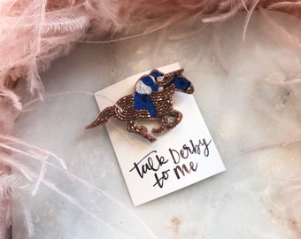 Derby Jewelry - Lapel Pin Royal Blue Jockey