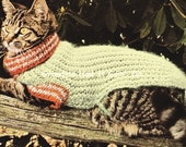 Items Similar To Cat Sweater Knitting Pattern 70s Cat Coat Mohair