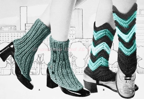 Boot Cuff - Vintage Spats Knitting Pattern - Ladies Crochet & Knit ...