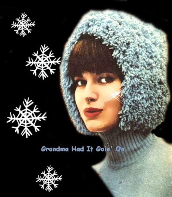 Crochet Helmet Hat Pattern Shaggy Crochet Winter Hat 60s
