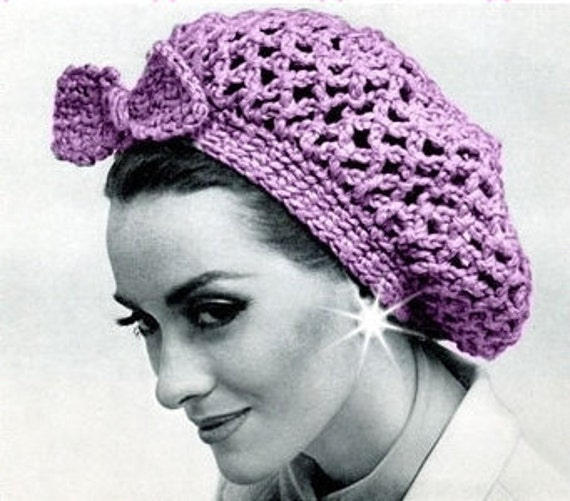 Vintage Crochet Pattern To Make 1940s Snood Hair Net Head Band