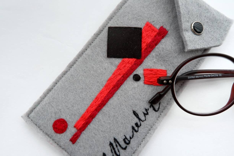 Gafas Caso Malevich / Gafas de Sol Caso / Mano bordado gafas
