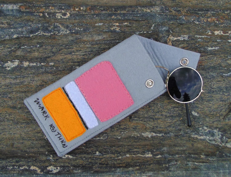 Glasses Case Mark Rothko/Sunglasses Case/Hand Embroidered