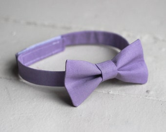 Boys Lavender Bow Tie - Toddler Purple Bow Tie, Purple Baby Bow Tie, Little Boys Bow Tie, Lavender Toddler Bow Tie, Toddler Boys Bow Tie