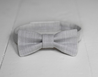 4805a079127a Boys Gray Bow Tie, Toddler Gray Bow Tie Light Gray Chambray Baby Bow Tie  Little Boys Bow Tie Light Gray Toddler Bow Tie Toddler Boys Bow Tie