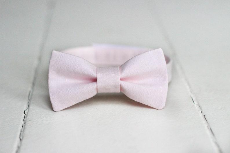 5529e0978135 Boys Blush Pink Bow Tie Boys Blush Bow Tie Blush Baby Bow | Etsy