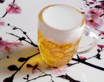 Original mug of beer (or cider :), PVC and resin charm