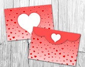 items similar to valentine envelope template 4x6 envelopes heart