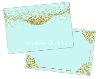 Items Similar To Printable Envelope Template Gold Glitter Envelopes - 4x6 envelope template