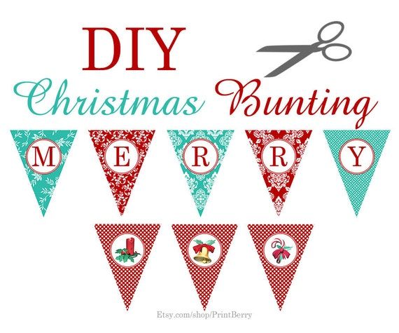 picture regarding Printable Christmas Crafts titled Printable decor Xmas Paper craft Do it yourself Xmas crafts Xmas banner Xmas garland Do-it-yourself Xmas decorations Xmas bunting