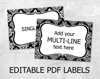 mason jar label templates