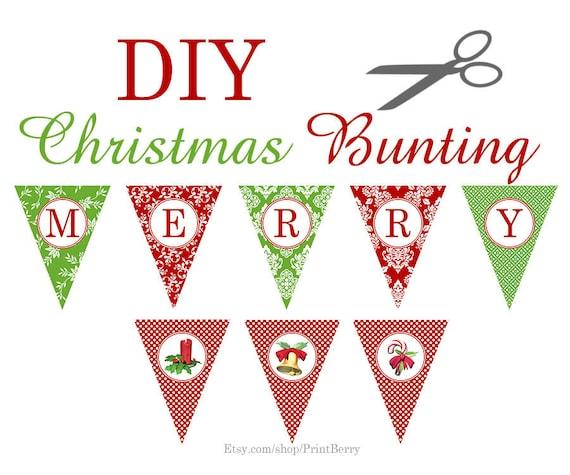 Christmas Printable Decor Christmas Banner Christmas Garland Etsy