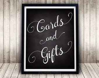 Cards and gifts sign Wedding chalkboard sign Printable Wedding sign printable Chalkboard wedding sign