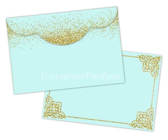 Gold Glitter Envelopes 4x6 Printable Envelope