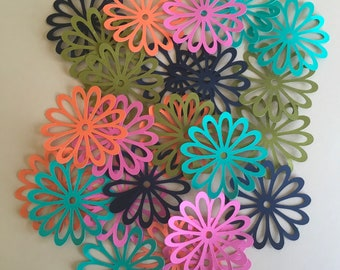 25 2 inch Flowers Boutique Colored Cricut Die Cuts