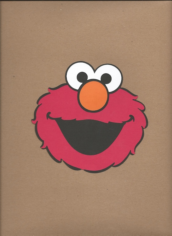 1 8 Inch Tall Elmo Face Cricut Die Cut