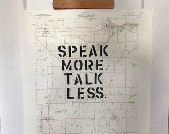 Speak More, Talk Less Map