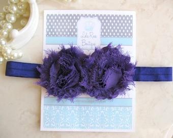 Shabby Chic  Headband-Purple-Infant Headband-HairBow Baby-Shabby Chic Headbands-Newborn Headbands