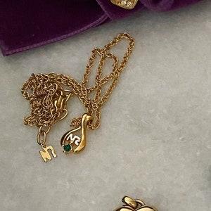 Simple vintage Nina Ricci gold-tone long necklace
