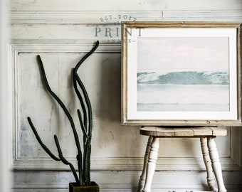 Ocean Surf PRINTABLE Wall Art - Beach Print - Minimalist - Modern Nursery Decor - Apartment Decor - Digital Art - Waves - SKU:6432