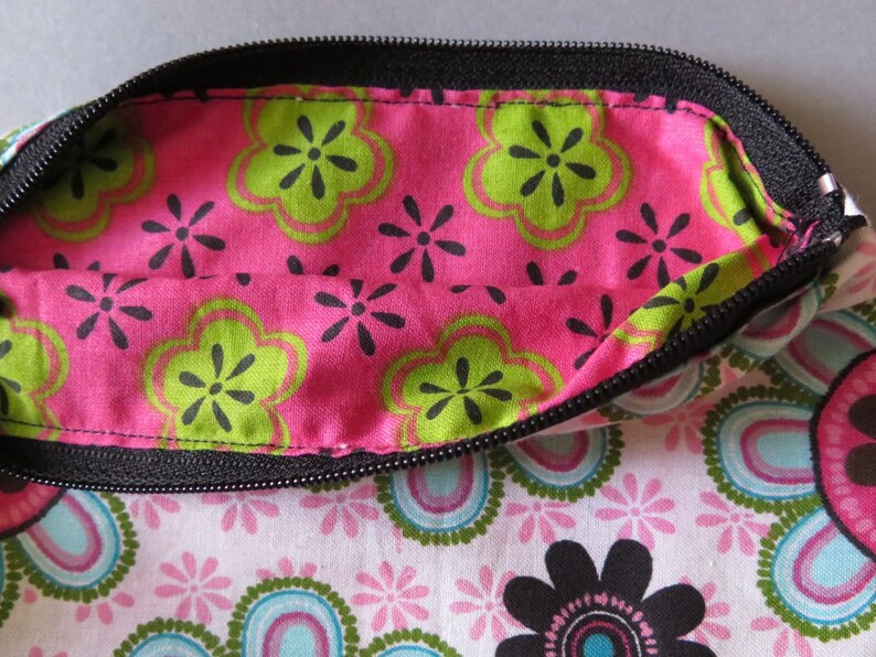 ready to ship Floral zipper pen pencil pouch