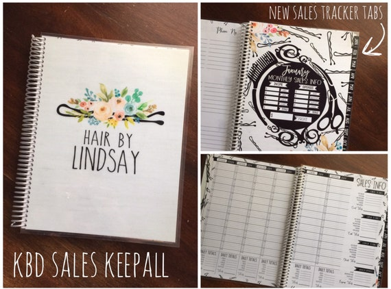 sales tracker keepall stylist appointment book you choose etsy