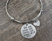 Brave, Strong, and Broken Expandable Bracelet- Hand Stamped Jewelry- Gifts for Her- Mother 39 s Day- Strength- Faith- Fighter- Inspirational