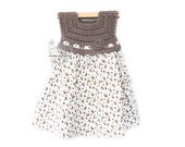 Floral pastel hand crochet rosy toddler girl dress